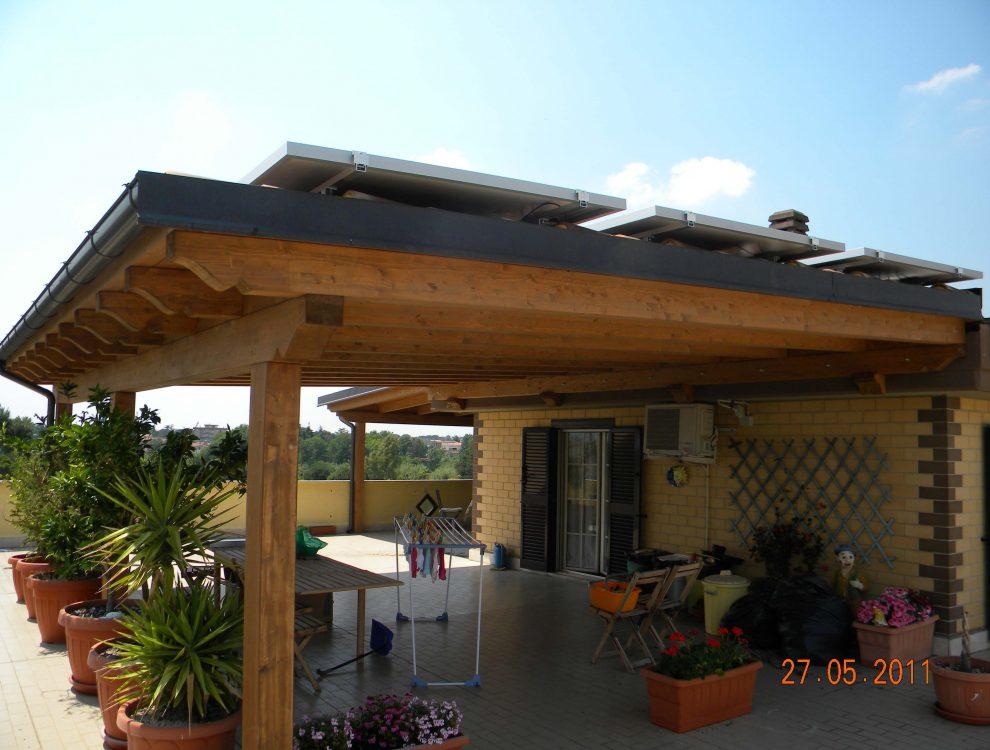 Portico con Fotovoltaico Tivoli