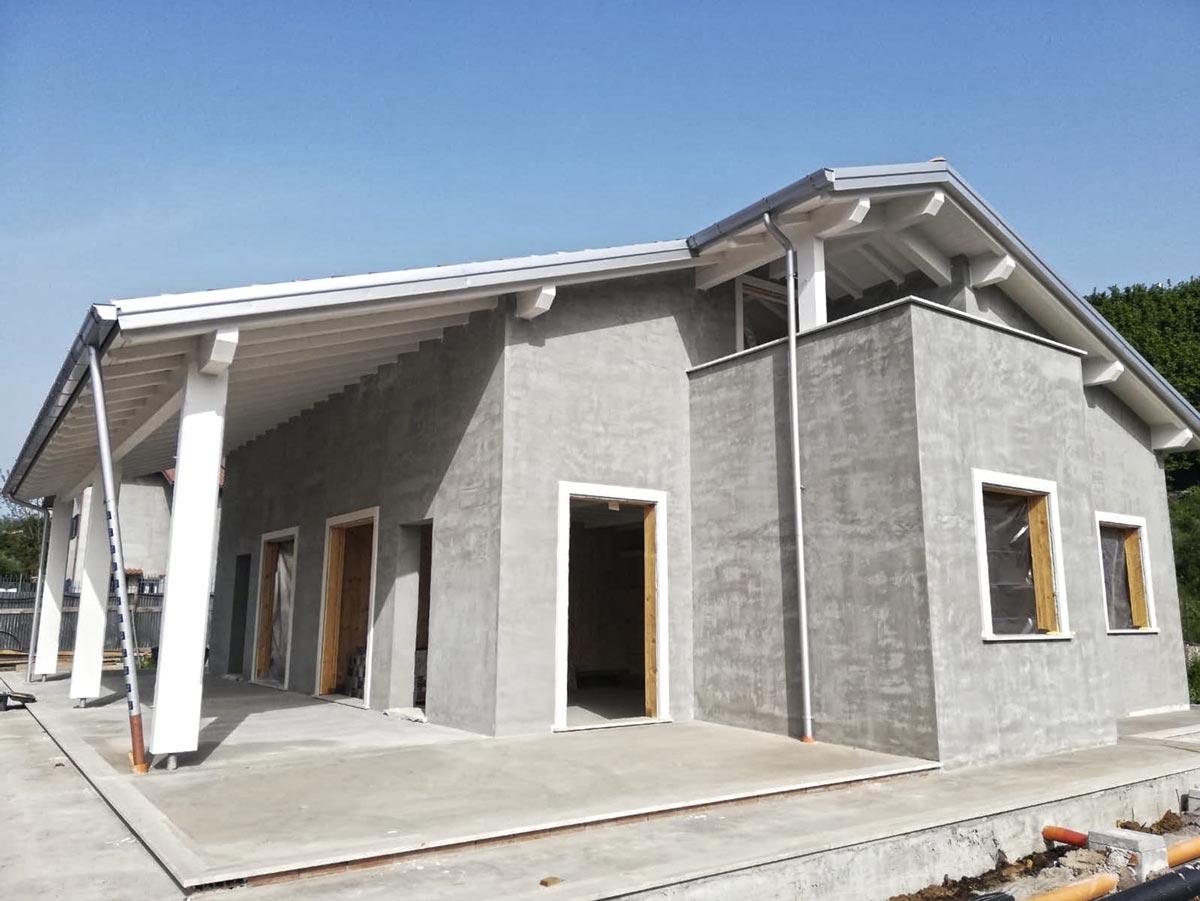 Cantiere casa in legno a Labico, Lazio